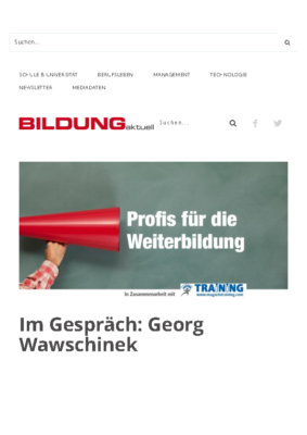 Profis für die Weiterbildung: Georg Wawschinek – BILDUNGaktuell.at