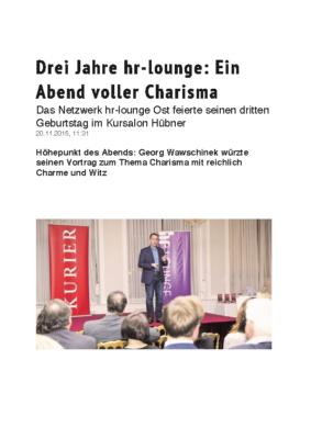 3 Jahre hr-lounge – Kurier 20.11.2015