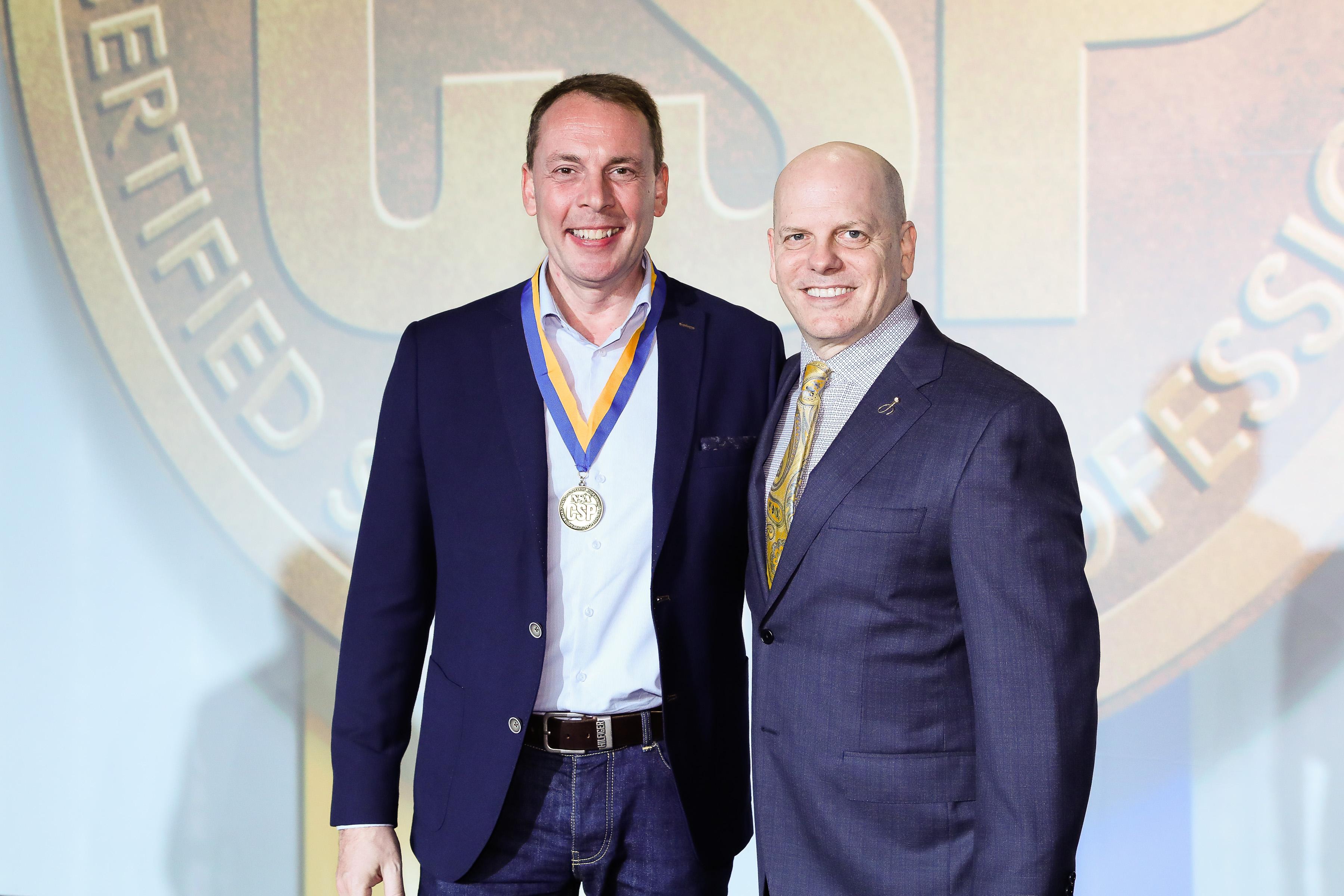 CSP Verleihung mit Brian Walter, Präsident der NSA (National Speakers' Association)