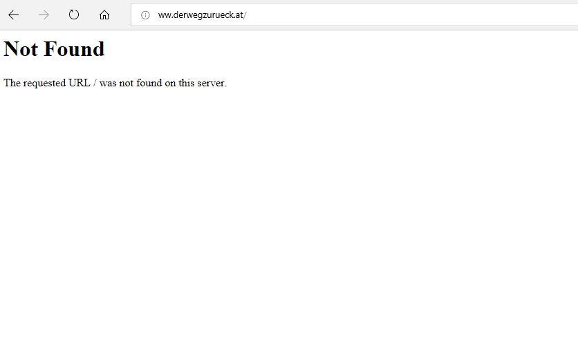 Die Website von Johannes Dürr ist nicht erreichbar / offline