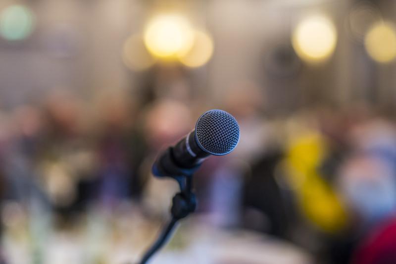 Nervosität und Lampenfieber vor einer Rede