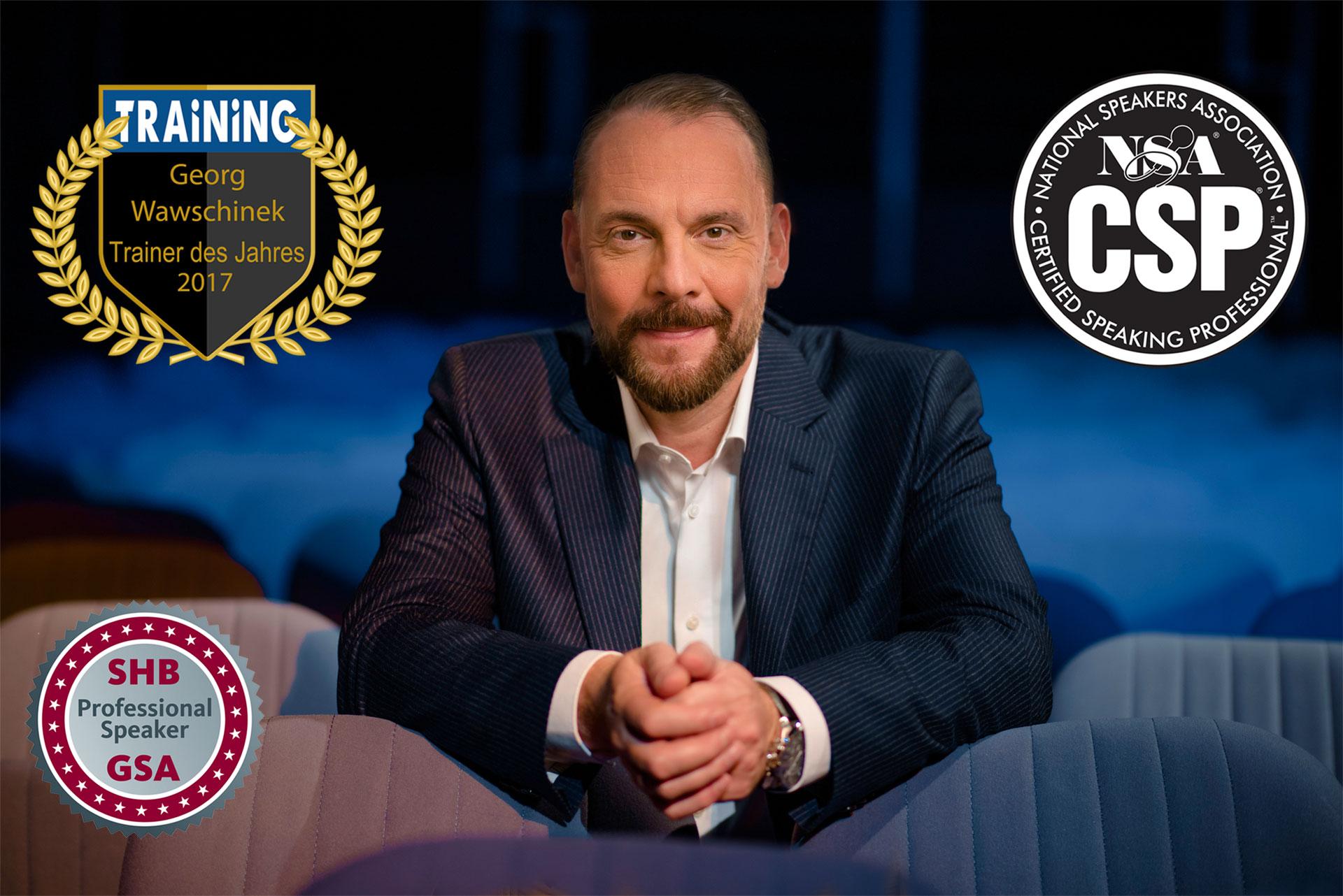 Sprechtrainer Georg Wawschinek: Auszeichnungen